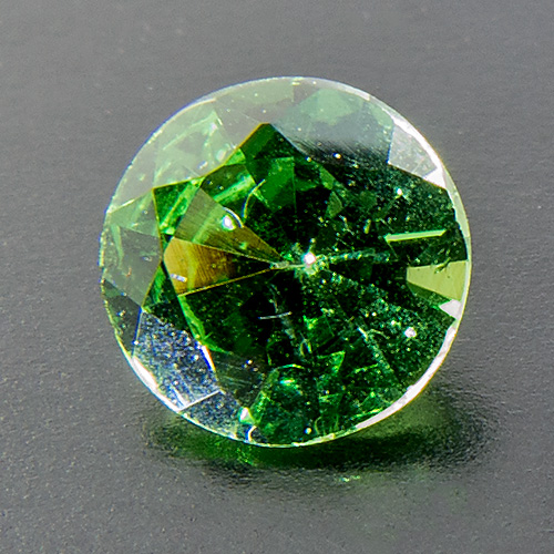 Tsavorite Garnet from Tanzania. 0.38 Carat. Round, very small inclusions