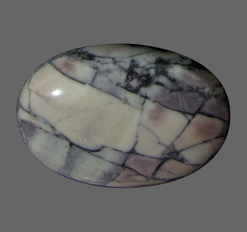 Porcelain Jasper from Mexico. 1 Piece. Cabochon Oval, opaque