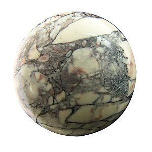 Porcelain Jasper from Mexico. 1 Piece. Cabochon Round, opaque
