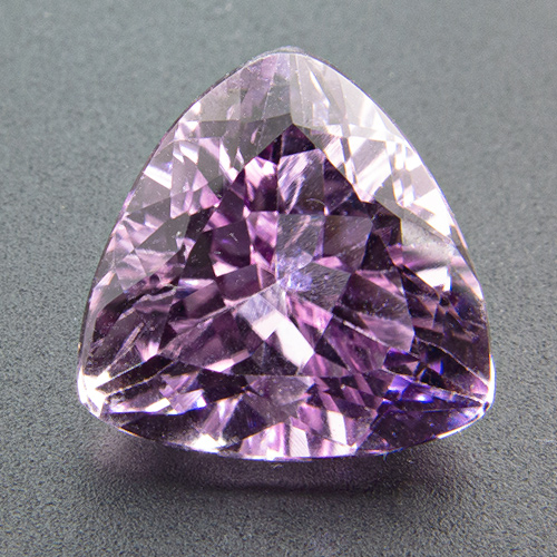 Kunzite from Pakistan. 4.57 Carat. Trillion, eyeclean