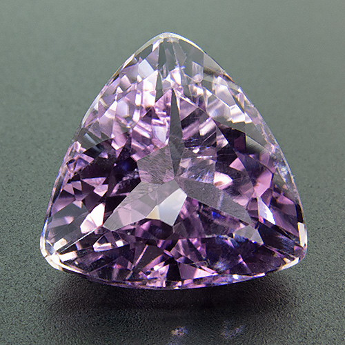 Kunzite from Pakistan. 6.68 Carat. Trillion, eyeclean