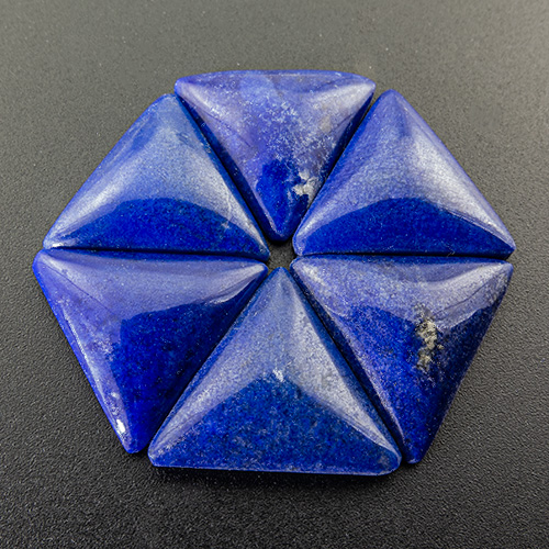 Lapis Lazuli from Afghanistan. 1 Piece. Slightly lighter colour and thus cheaper price p.ct. than all other lapis triangles