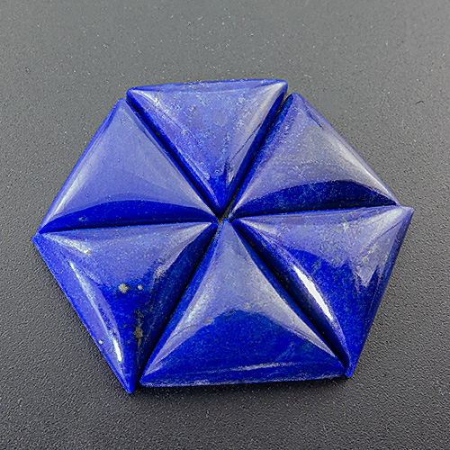 Lapis Lazuli from Afghanistan. 1 Piece. Cabochon Triangle, opaque