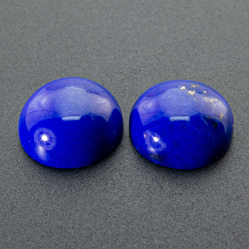 Lapis Lazuli from Afghanistan. 1 Piece. Cabochon Round, opaque