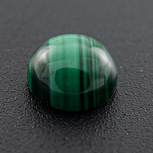 Malachite from Congo. 1 Piece. Cabochon Round, opaque