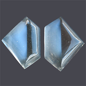 Moonstone From Ziller Valley/Austria from Austria. 25.48 Carat. moonstone with sharp dividing line, pic shows 1 stone from 2 diff. angles, please contact us for more 