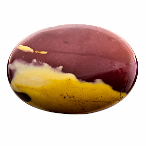 Mookaite from Australia. 1 Piece. Cabochon Oval, opaque