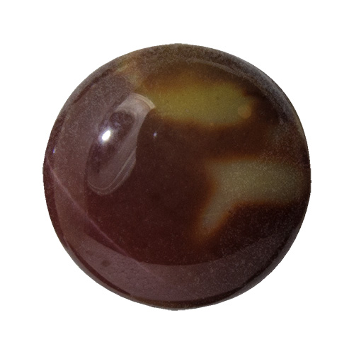 Mookaite from Australia. 1 Carat. Cabochon Round, opaque