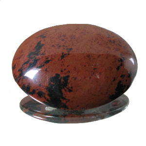 Mahogany Obsidian from Mexico. 1 Piece. Cabochon Oval, opaque