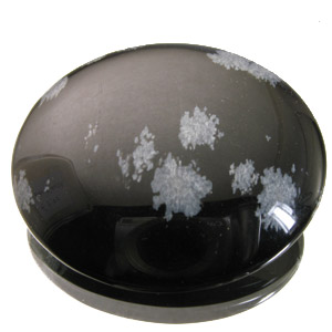 Snowflake Obsidian from Mexico. 1 Piece. Cabochon Round, opaque