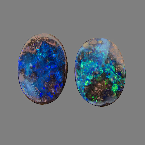 Boulder Opal from Australia. 1.95 Carat. Cabochon Oval, opaque