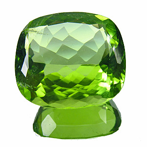 Peridot from Pakistan. 7.46 Carat. rather shallow pavilion. ideal, if you prefer low settings