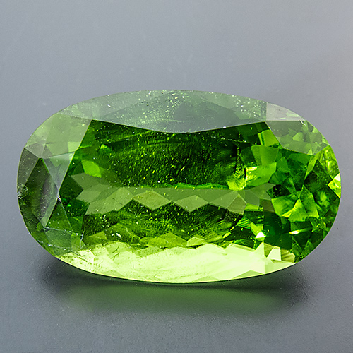 Peridot from Pakistan. 11.59 Carat. Oval, small inclusions
