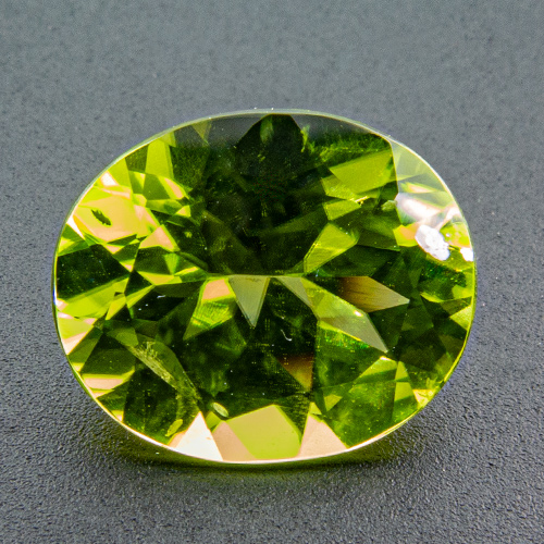 Peridot. 3.51 Carat. Oval, small inclusions