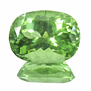 Peridot from Pakistan. 9.05 Carat. Cushion, small inclusions