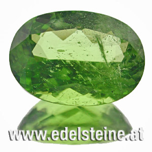 Peridot. 3.49 Carat. Oval, very small inclusions