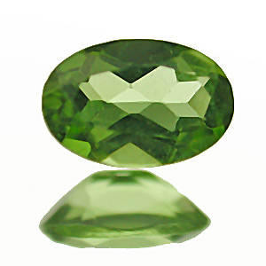 Peridot. 1 Piece. Only second quality left, shallow cut
