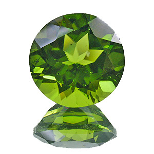 Peridot. 6.19 Carat. Round, small inclusions