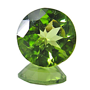 Peridot. 1 Piece. Round, very small inclusions