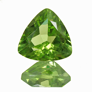 Peridot from Pakistan. 1 Piece. Trillion, small inclusions