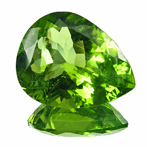 Peridot from Pakistan. 5.12 Carat. a vivid gem, despite the small inclusions