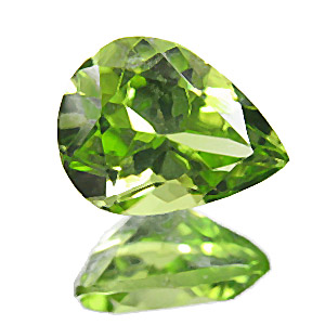 Peridot. 1 Piece. Pear, very very small inclusions