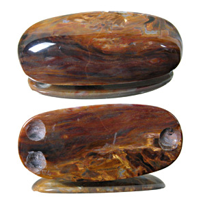 Pietersite from Namibia. 1 Piece. 3 drillholes on 
