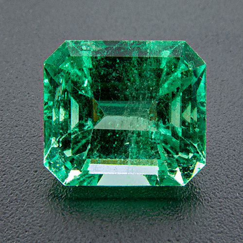 Emerald from Colombia. 2.54 Carat. Emerald Cut, distinct inclusions
