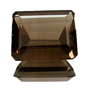 Smoky Quartz from Brazil. 30.19 Carat. Emerald Cut, very very small inclusions