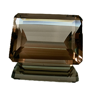 Smoky Quartz from Brazil. 38.87 Carat. Emerald Cut, very very small inclusions