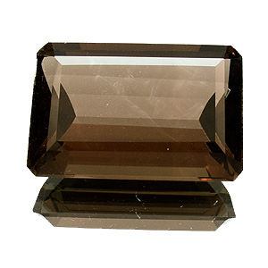Smoky Quartz from Brazil. 40.97 Carat. Emerald Cut, very very small inclusions