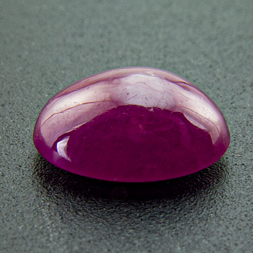 Ruby from India. 0.94 Carat. Cabochon Oval, translucent