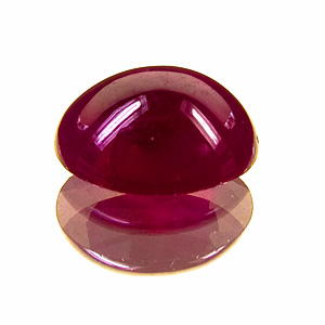 Ruby. 3.5 Carat. Cabochon Oval, semi-translucent
