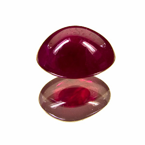 Ruby. 4.73 Carat. Cabochon Oval, semi-translucent