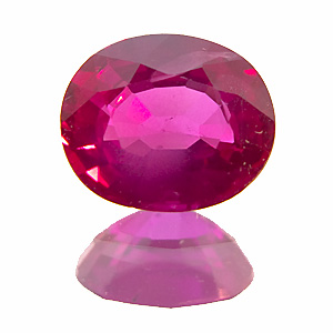 Ruby from Myanmar. 0.91 Carat. Oval, small inclusions