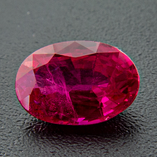 Ruby from Myanmar. 0.61 Carat. Oval, distinct inclusions