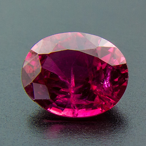 Ruby from Myanmar. 0.64 Carat. Oval, distinct inclusions