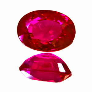 Ruby from Myanmar. 2.03 Carat. Oval, small inclusions