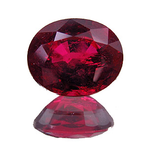 Ruby from Myanmar. 1.49 Carat. Oval, small inclusions