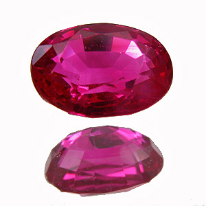 Ruby from Myanmar. 1.04 Carat. Oval, very very small inclusions
