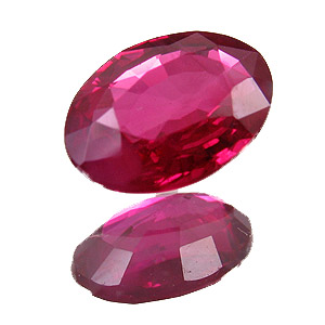 Ruby from Myanmar. 0.71 Carat. Oval, very small inclusions