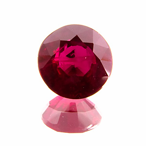 Ruby from Mozambique. 0.93 Carat. Round, distinct inclusions