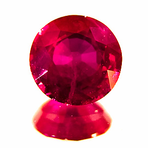 Ruby from Myanmar. 1.07 Carat. Round, distinct inclusions