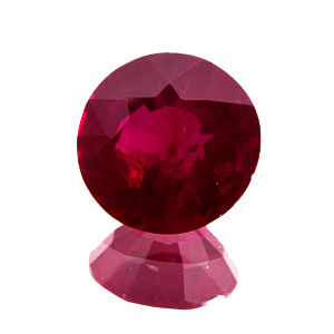 Ruby from Mozambique. 1.18 Carat. Round, distinct inclusions