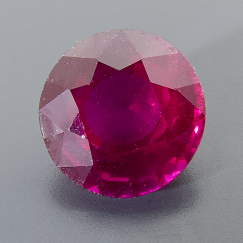 Ruby from Mozambique. 1.09 Carat. Round, distinct inclusions