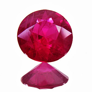 Ruby from Myanmar. 0.54 Carat. Brilliant, distinct inclusions