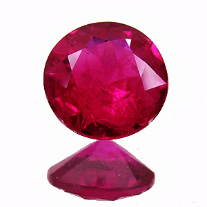 Ruby from Myanmar. 0.7 Carat. Brilliant, distinct inclusions