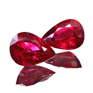 Ruby from Myanmar. 2.45 Carat. very good colour, no bluish or pinkish tinge, well matched pair