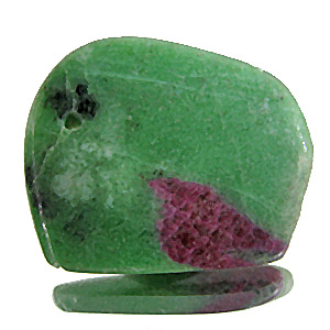 Ruby In Zoisite Matrix from Tanzania. 49.81 Carat. drilled appr. 1.3mm