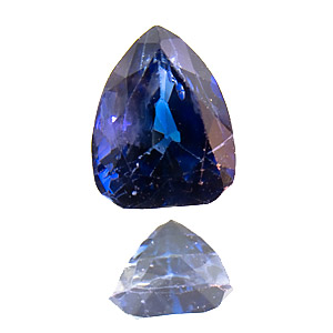 Sapphire. 0.91 Carat. for gemcutters: excellent colour, from an old lot, slightly abraded facet edges, should be repolished